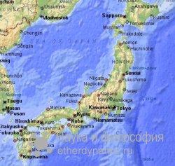 Причину землетрясения в Японии ученые ищут в небе
